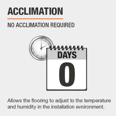 No acclimation period required for LifeProof Bamboo Flooring.