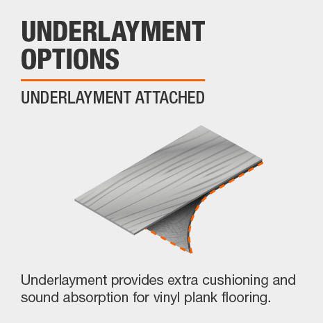 Luxury Vinyl Plank flooring comes with underlayment attached.