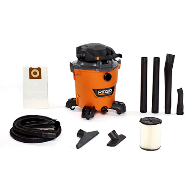 Includes 2-1/2 in. x 7 ft. Hose, 2 Extension Wands, Utility Nozzle, Wet Nozzle, Car Nozzle, Locking Blower Wand, Dust Bag, Standard Filter