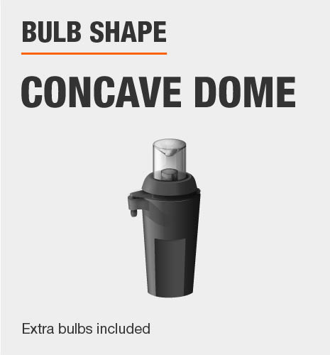 The bulb shape is concave dome