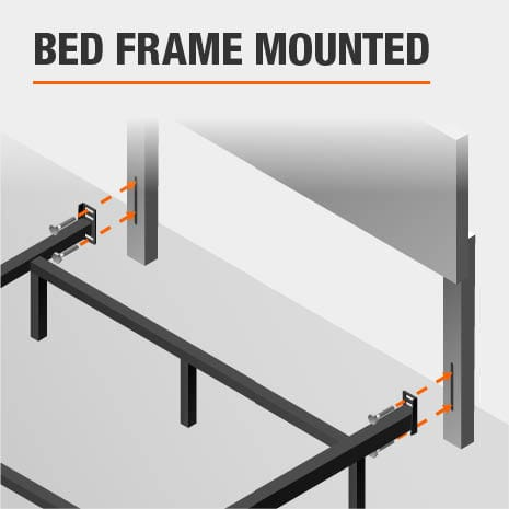 Bed Frame Mounted King Headboard