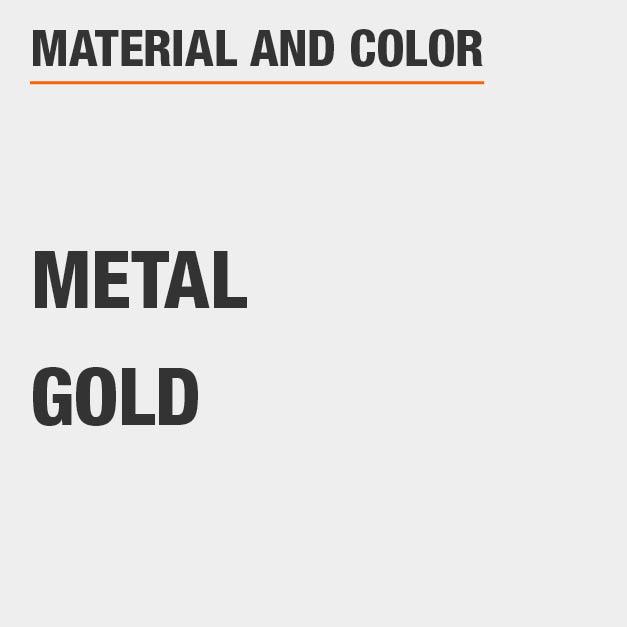 Gold Metal Vanity Set