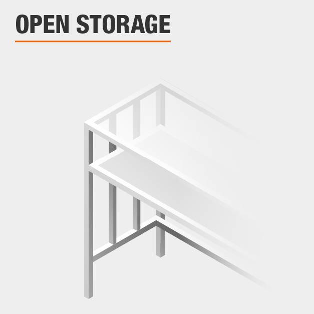 Open Storage Vanity Set