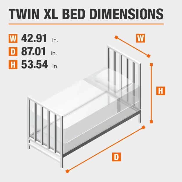 StyleWell Dorley Farmhouse Black Metal Twin XL Bed (42.91 in W. X