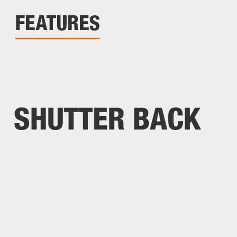 Platform Bed with Shutter Back