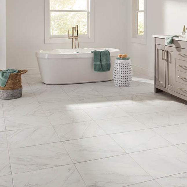 LifeProof Limestone 12 In. X 24 In. Glazed Porcelain Floor