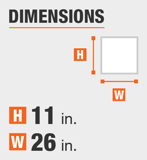 The dimensions are 28 inch height and 24 inch width