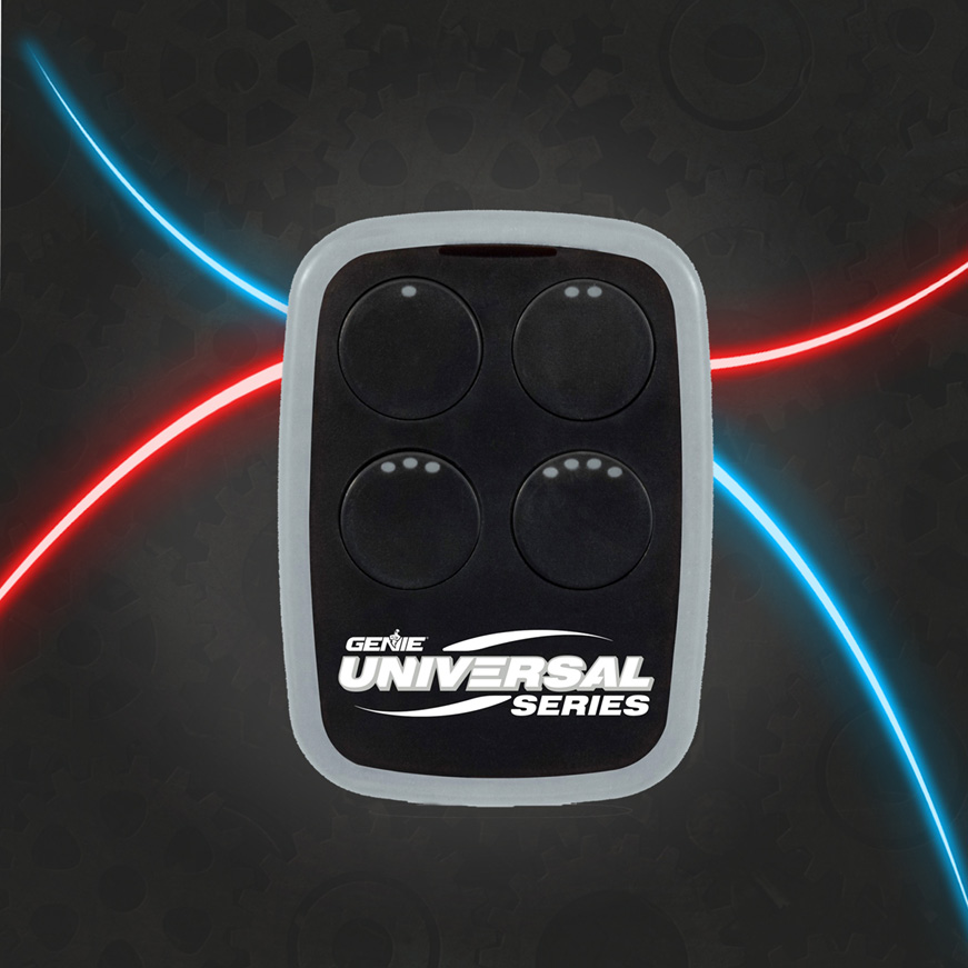 Genie universal garage door opener remote works on most brands
