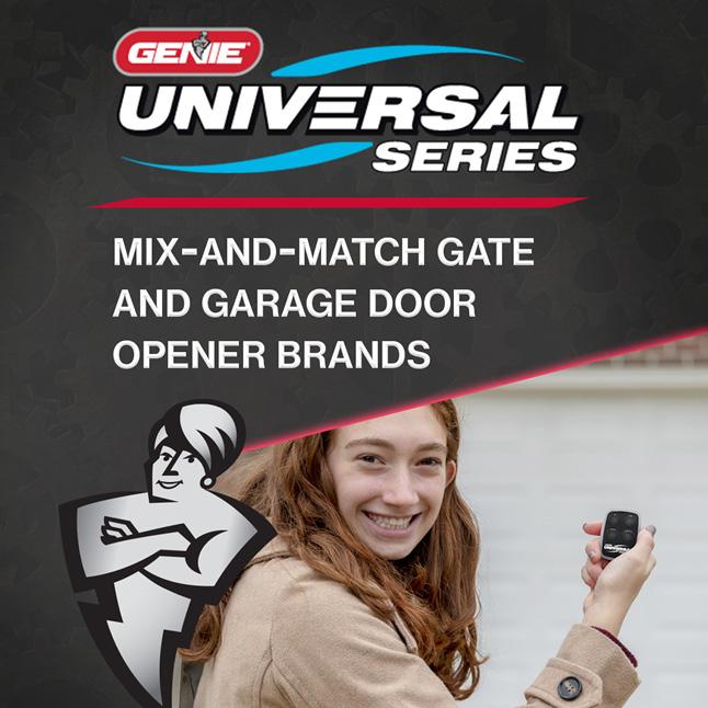 Genie universal garage door opener remote four button