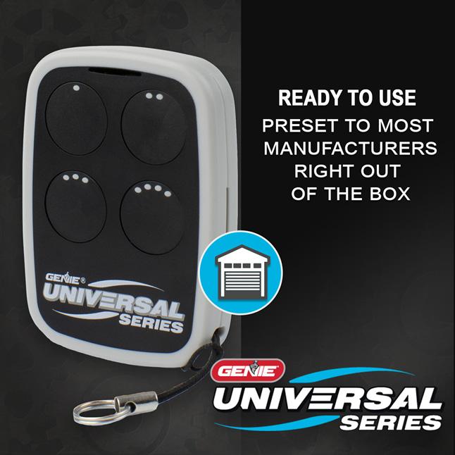 Genie universal garage door opener remote buttons preset