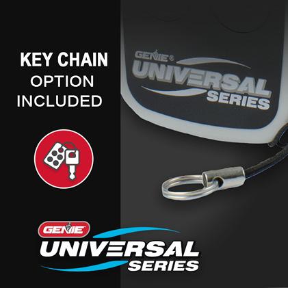 Genie universal garage door opener remote keychain