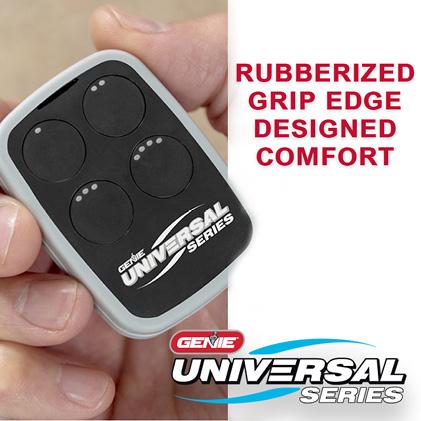 Genie universal garage door opener remote grip edge