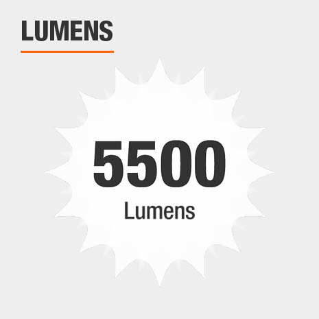 This light has a brightness of 5500 lumens.