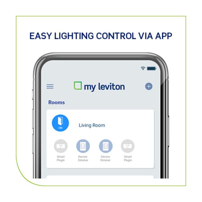 Easy lighting control via app