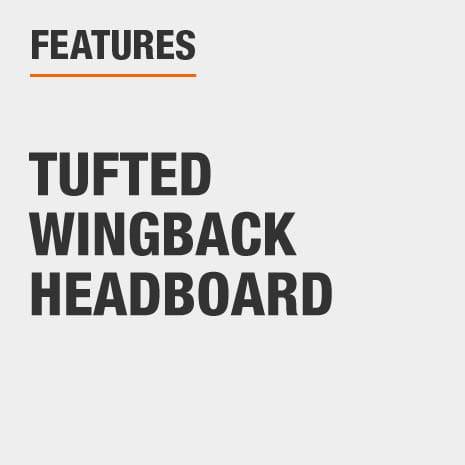 King Headboard with Tufted Wingback Headboard
