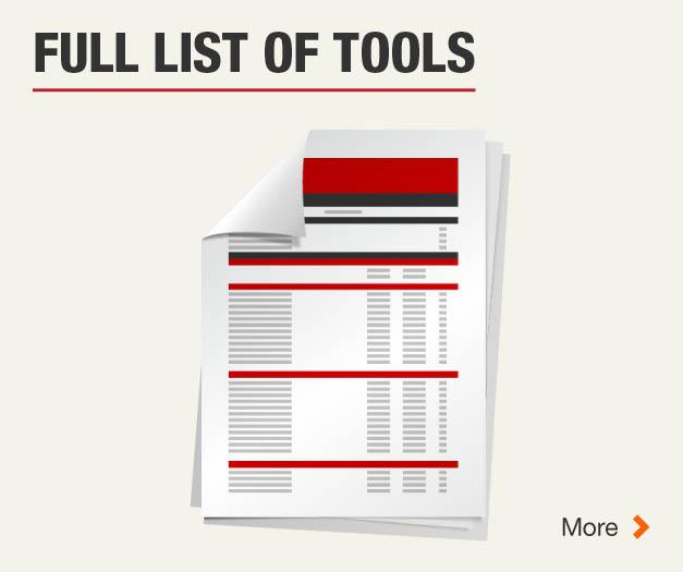 See full list of tools
