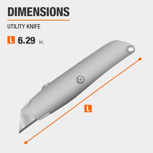 Utility Knife Drywall Tool Dimensions