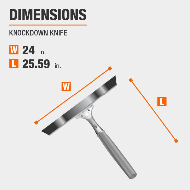Knockdown Knife Drywall Tool Dimensions
