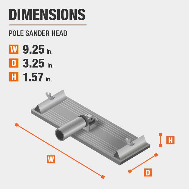 Pole Sander Head Dimensions