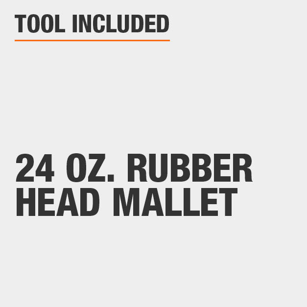 Tool Included 24 oz. Rubber Head Mallet