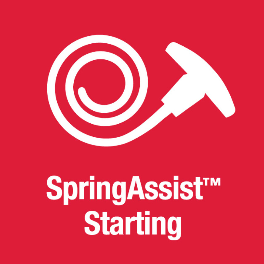 Troy-Bilt has string trimmers, SpringAssist starting technology