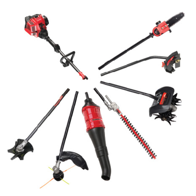 Troy-Bilt gas string trimmers attachment capable with TrimmerPlus
