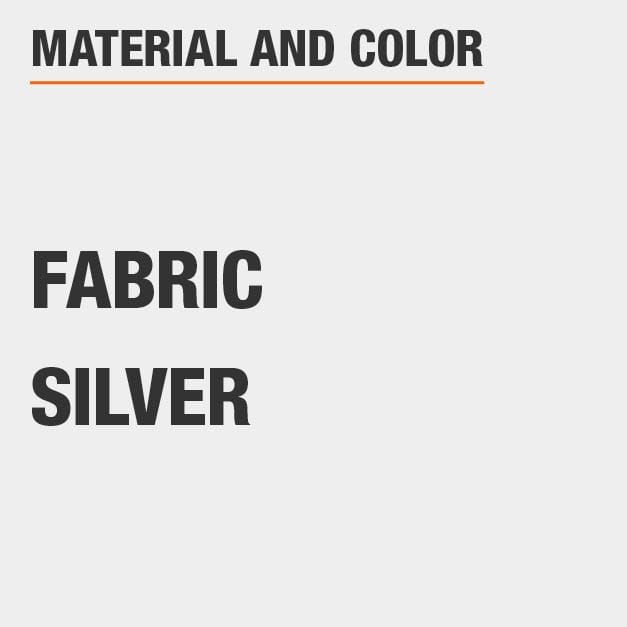 Fabric King Bed with Fabric material and Silver   color.