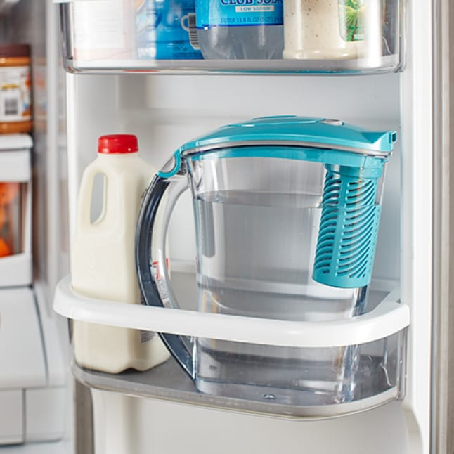 Fits in most refrigerator doors.