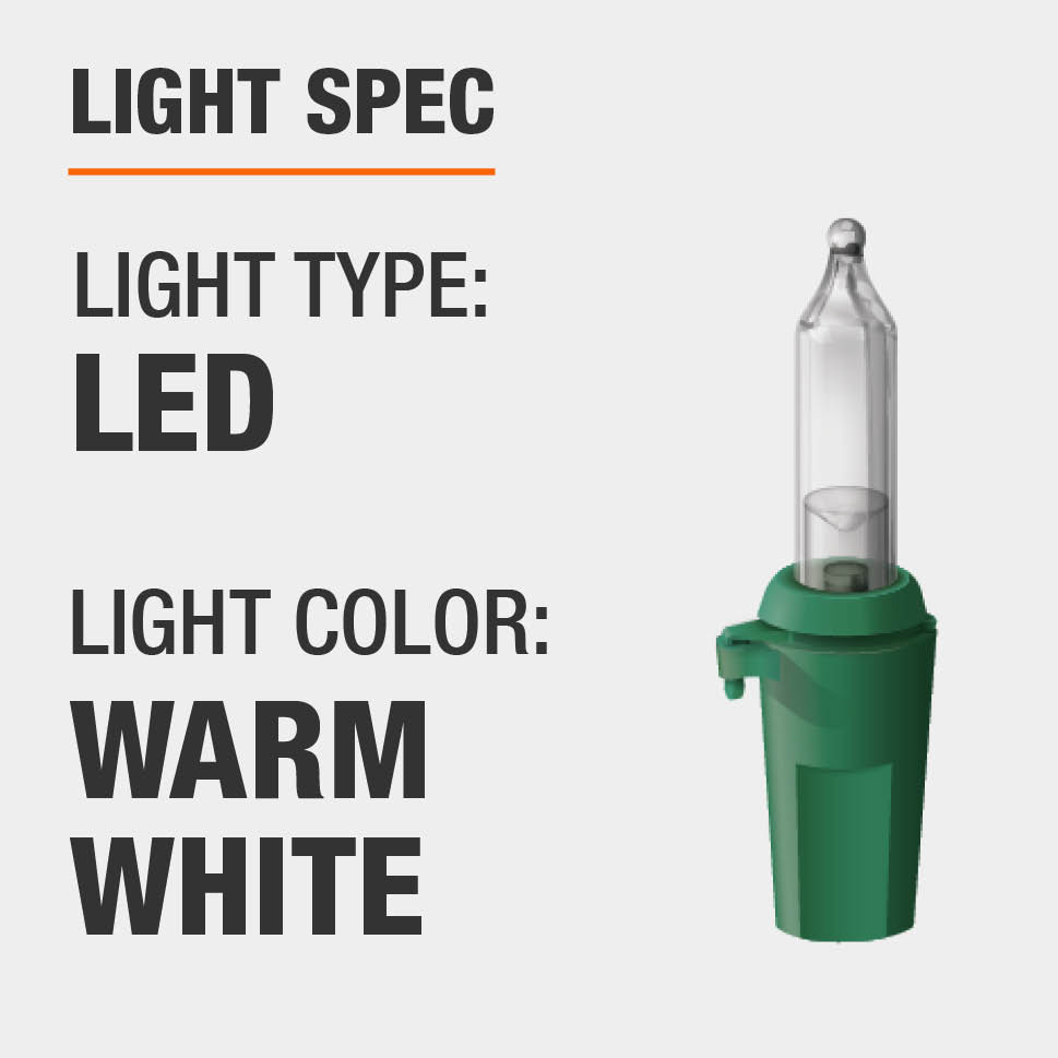 The light type is LED and color is warm white