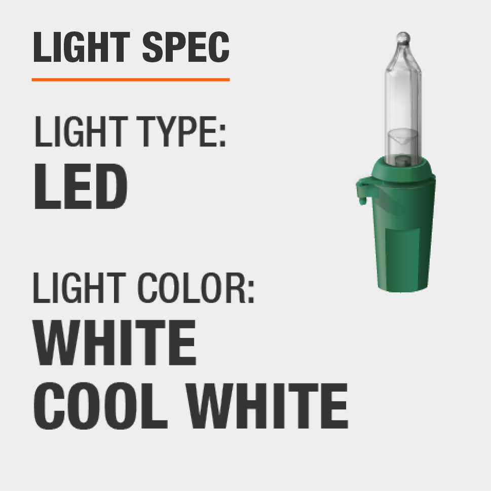 The light type is LED and color is white and cool white