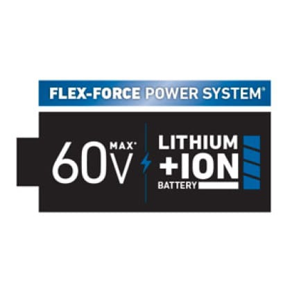 icon of Toro's Flex-Force power system with 60V Lithium Ion.