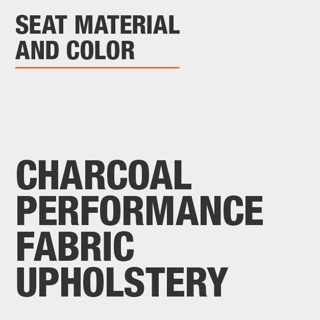 Collection with Charcoal Performance Fabric Upholstery