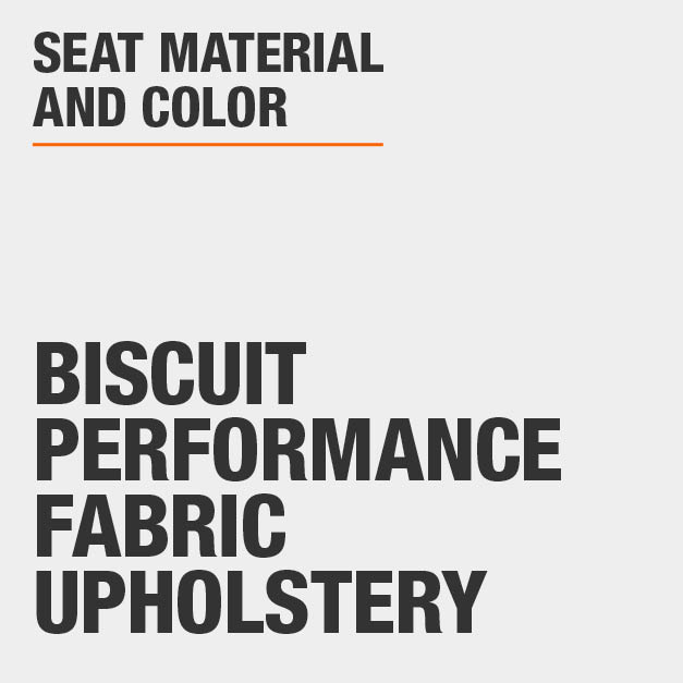 Collection with Biscuit Performance Fabric Upholstery