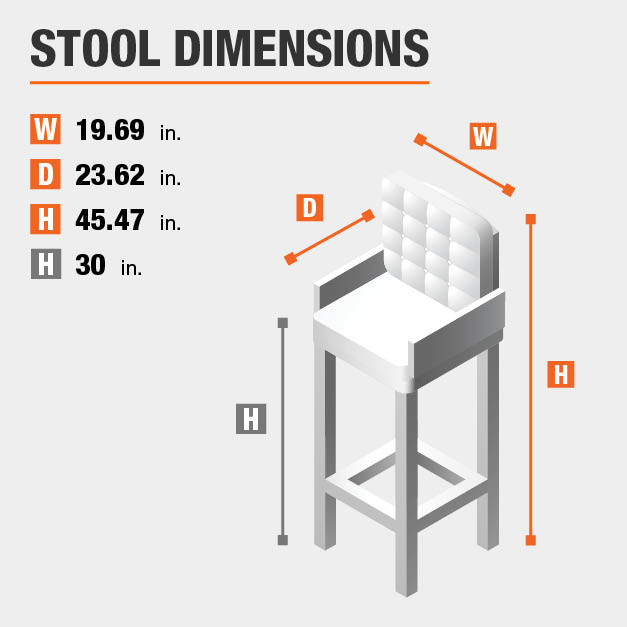 Upholstered Bar Stool Dimensions