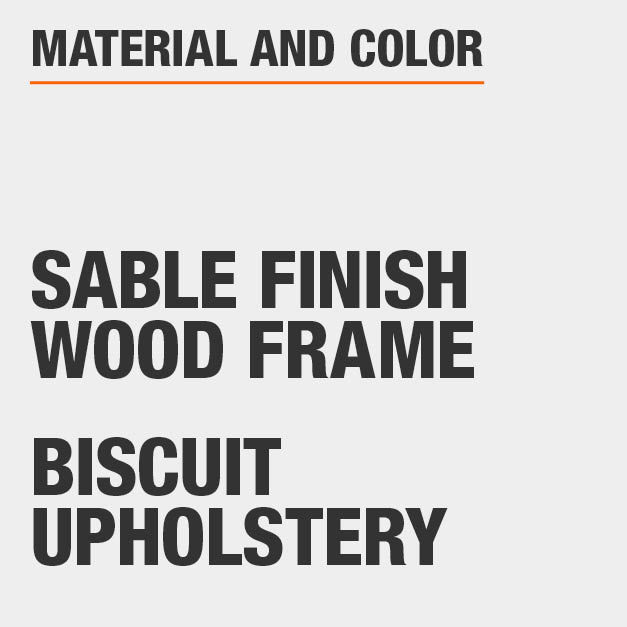 Biscuit Upholstery Sable Finish Wood Frame Upholstered Dining Chair