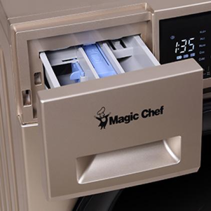 Easy-open detergent drawer
