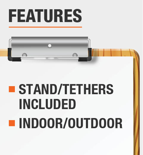 This product includes stand/stake and is recommended for use indoor and outdoor