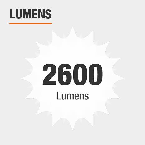 This light has a brightness of 2600 lumens.