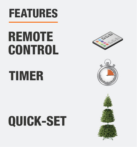 This tree includes a remote control