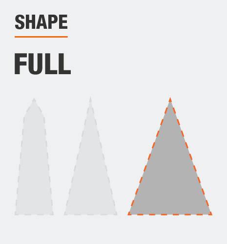 Tree shape is full