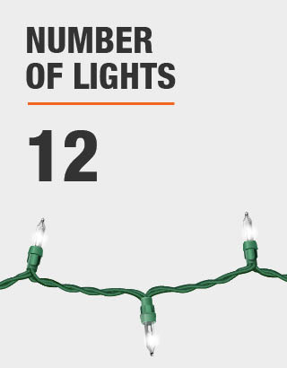 The number of lights is 12