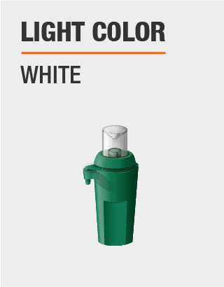 The light color is white