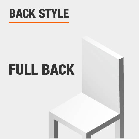Upholstered Dining Chair Set with Full Solid Back