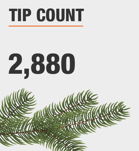 The tip count is 2880
