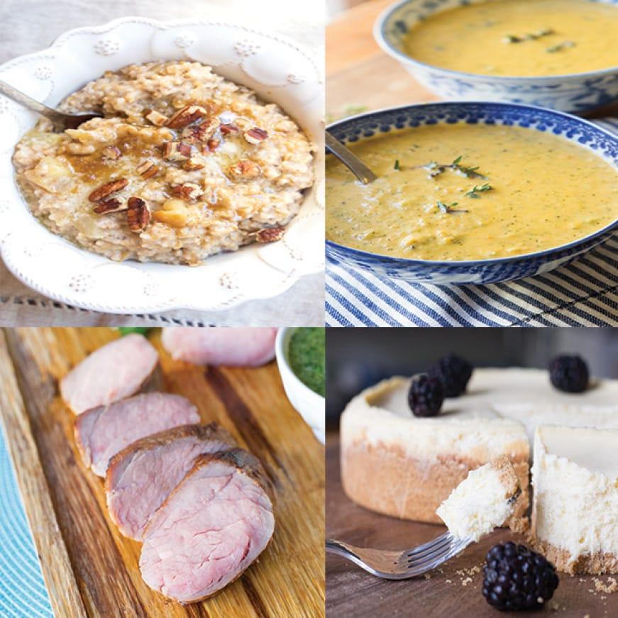 Multicooker can make meals for breakfast, lunch, dinner or dessert