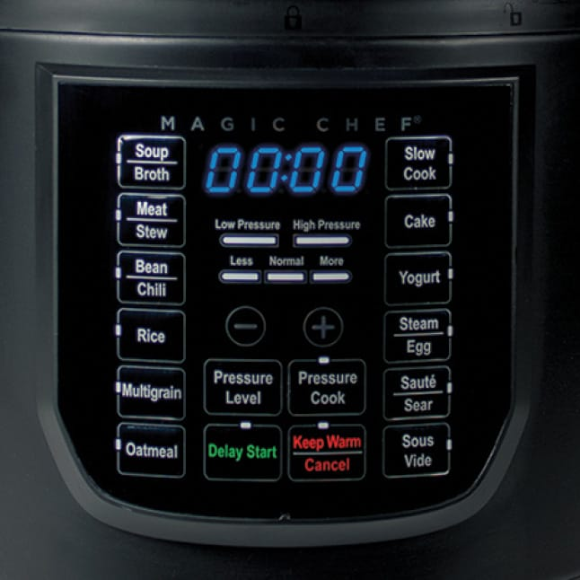 14 preset functions include rice, meat/stew and slow cook