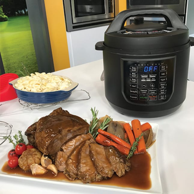 6 qt. stainless steel pot is perfect for family meals