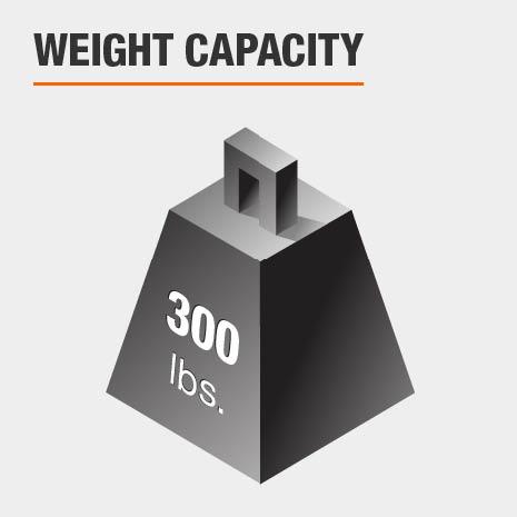 Weight Capacity 300 lbs.