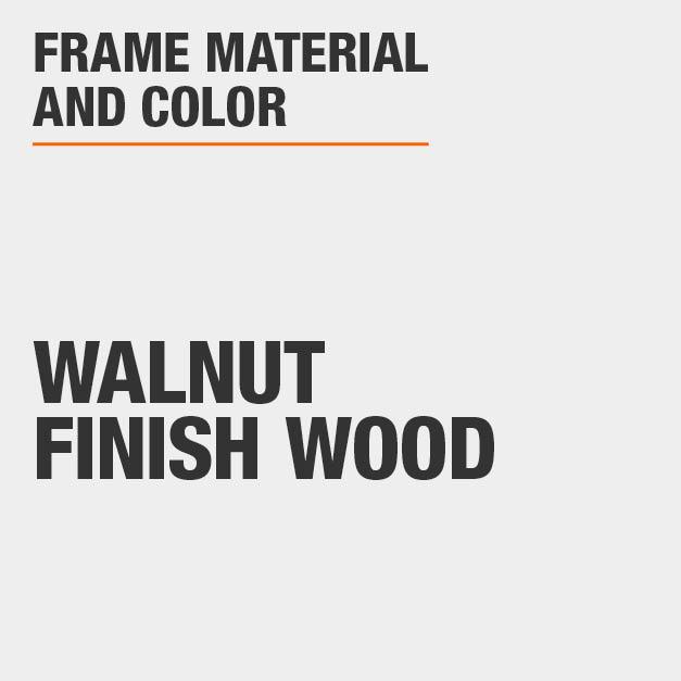 Bar Stool with Walnut Finish Wood Frame