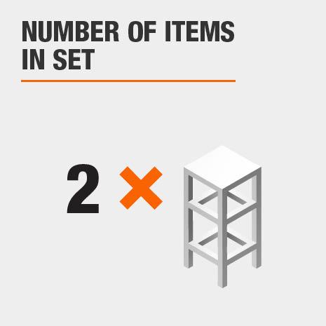 2 piece stool set